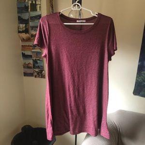 Burgundy Tee Shirt Dress